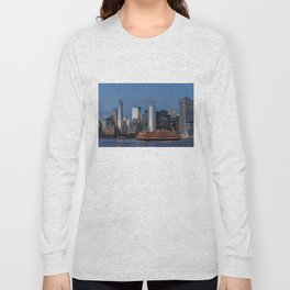 NYC Skyline & The Boat Long Sleeve T-shirt
