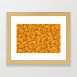 Oriental gold Framed Art Print