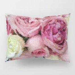 Gorgeous light pink and mauve wedding bouquet Pillow Sham