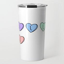 Kill Me Candy Hearts Travel Mug
