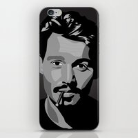 johnny depp iPhone & iPod Skins featuring Johnny Depp by Tori Kim