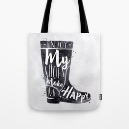 Women's boots watercolor Tote Bag