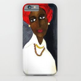 Rare African American Portrait of Aicha Goblet in a Red Hat by Amedeo Modigliani iPhone Case
