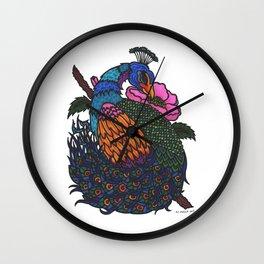 Japanese Peacock Wall Clock