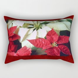 Mixed Color Poinsettias 2 Blank P5F0 Rectangular Pillow