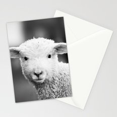 Lamb in Black and White Stationery Cards