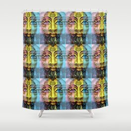 Urban Exotic Egyptian in a Seamless Pattern Shower Curtain