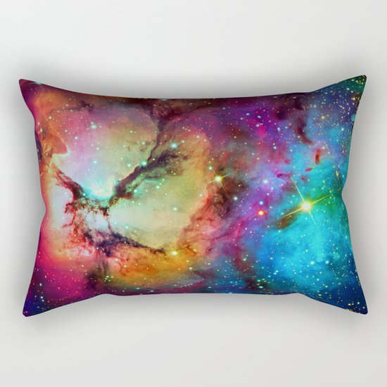 Floral Nebula Rectangular Pillow