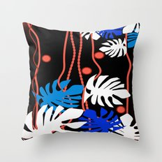 Jungle Night Fever Throw Pillow