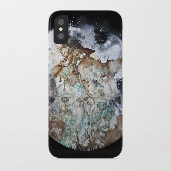 Excerpt / Curacao Coffee on Canvas iPhone Case
