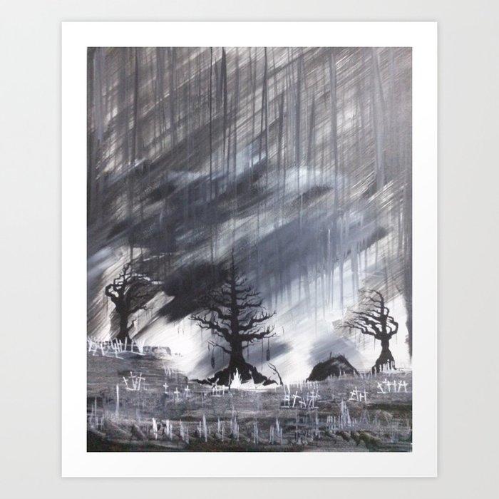 Grave Rain Art Print