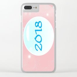 2018 Christmas And New Year Clear iPhone Case
