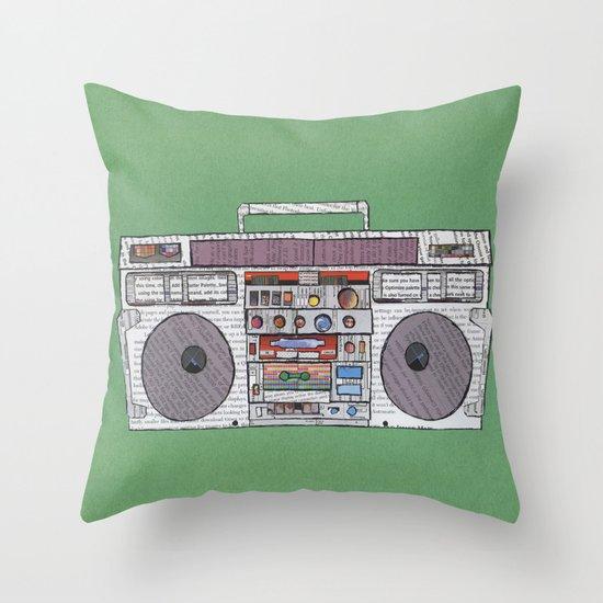 paper jams Throw Pillow
