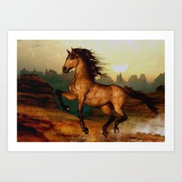 HORSES-Prairie dancer Art Print