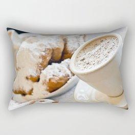 New Orleans Beignets and Café au Lait Rectangular Pillow