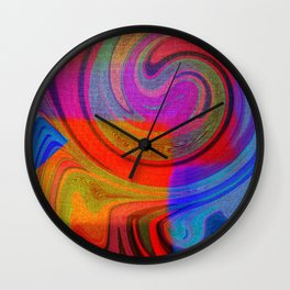 vortices of colors Wall Clock