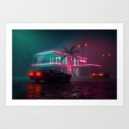 Malibu Nights Art Print