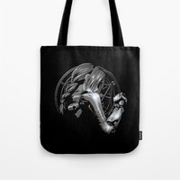 fullmetal Tote Bags featuring Edward Metal by BradixArt