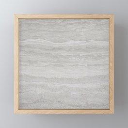 Sand and Stone Marble Framed Mini Art Print