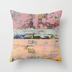 Dogbane Pink Abstract Painting Print Throw Pillow