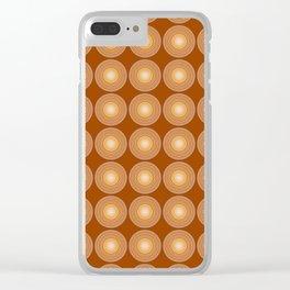 Saffron Color Circle Pattern Clear iPhone Case