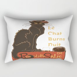 Le Chat  Burns Nuit With Haggis and Dram Rectangular Pillow