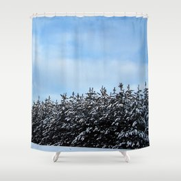Christmas Tree Forest Shower Curtain