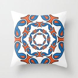 abstract mandala tribal Throw Pillow