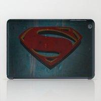 man of steel iPad Cases featuring Superman - Man of Steel by ochre7