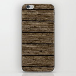 rough wooden planks iPhone Skin