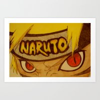 naruto Art Prints featuring Naruto Angry by DeMoose_Art