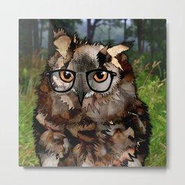 Owl's Good in the Woods Metal Print