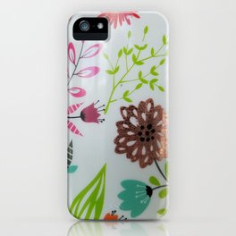 Floral flower power iPhone Case