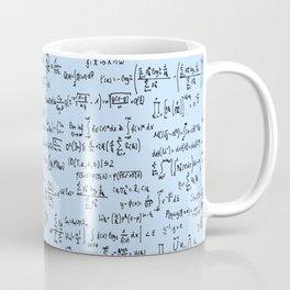 Math Equations // Light Blue Coffee Mug