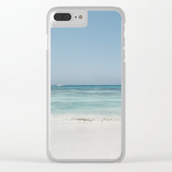 Crash Into The Sea Clear iPhone Case