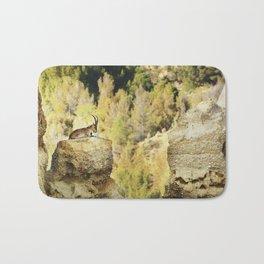 """Wildlife at the Bad lands. Mountain goat"" Bath Mat"