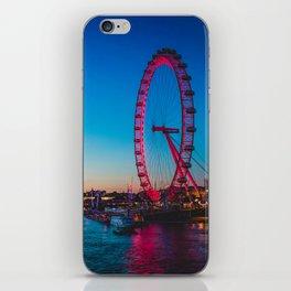 London Eye at Night | Europe UK City Urban Nightscape Sunset Photography iPhone Skin