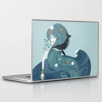 life aquatic Laptop & iPad Skins featuring Aquatic Life of a Seaflower by Alexandra Gallant