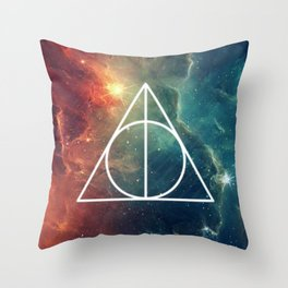 Deathly Hallows Nebula HP Throw Pillow