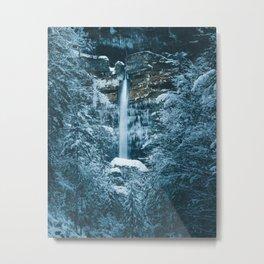 Magical waterfall Peričnik in Mojstrana, Slovenia Metal Print