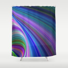 Sink in colors Shower Curtain