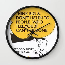Think Big Awemous Quote Wall Clock