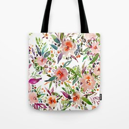 INCOGNITO INTROVERT Tropical Colorful Floral Tote Bag