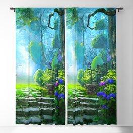 Fascinating Gorgeous Idyllic Dreamy Magic Garden UHD Blackout Curtain