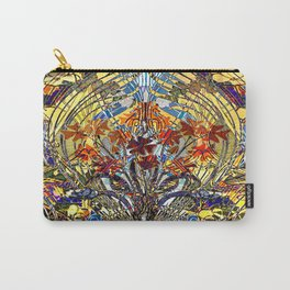 Art Nouveau Stain Glass Floral Carry-All Pouch