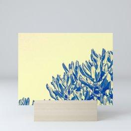 Beach tree against a yellow sky Mini Art Print