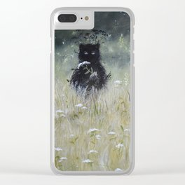 Nature Spirit - painting Clear iPhone Case