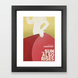 The sun also rises, Fiesta, Ernest Hemingway, classic book cover Framed Art Print