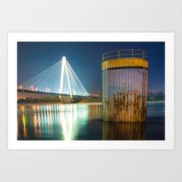 Saint Louis Stan Musial Bridge Mississippi Riverscape Art Print