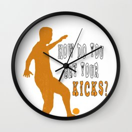 Hacky Sack Footbag Freestyle Sack Sport Game Gift Wall Clock